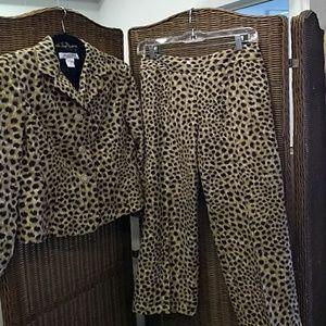 Pants - Judith Hart Collection Cheetah Print Pant Suit